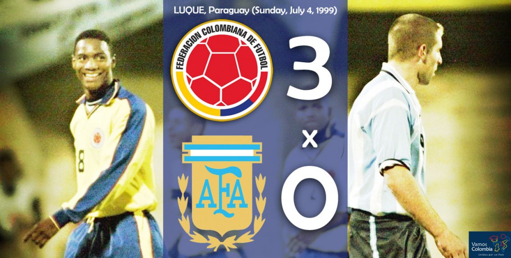 Colombia beats Argentina 1999